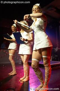 Terri, Suzie, and Ingrid of Fluorotrash perform in the Main Theatre at the Electric Circus. London, Great Britain. © 2010 Photographicon