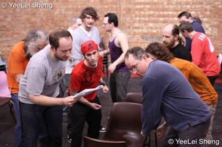 A community-cast workshop in preparation for The Southwark Mysteries 2010. London, Great Britain. © 2010 Photographicon