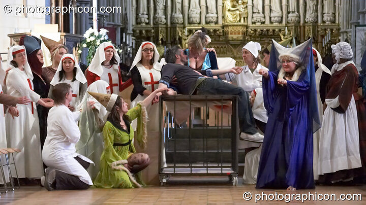 Dress rehearsal of The Southwark Mysteries 2010. London, Great Britain. © 2010 Photographicon