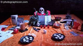 The ritual shrine at The Halloween of the Cross Bones XIII. London, Great Britain. © 2010 Photographicon