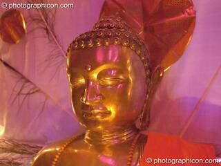 Buddha shrine in the Healing space at The Synergy Project. London, Great Britain. © 2005 Photographicon