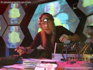 Barclay DJing on the Inside-Us-All stage at The Synergy Project. London, Great Britain. © 2005 Photographicon