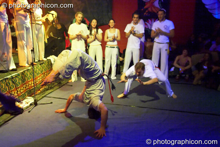 Capoeira Abolicao in the Synergy Centre space at The Synergy Project.at The Synergy Project. London, Great Britain. © 2006 Photographicon
