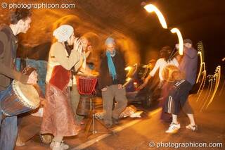A Spirit Jamming session in the road tunnel outside The Synergy Project. London, Great Britain. © 2006 Photographicon