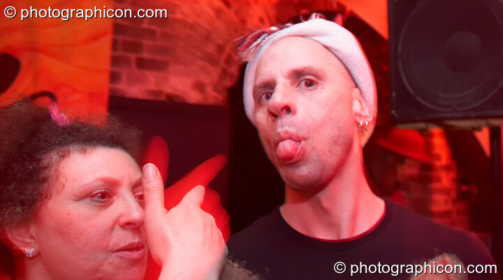 Two friends being silly at The Synergy Project. London, Great Britain. © 2007 Photographicon