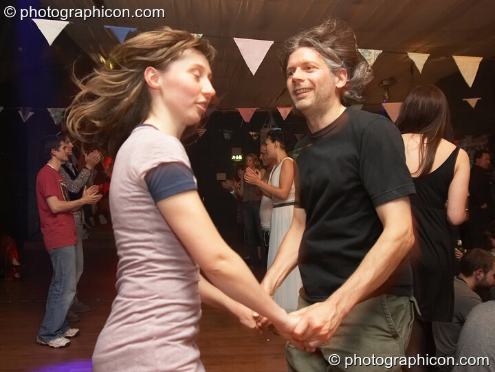 Dancers in the Ceilidh Project space at The Synergy Project. London, Great Britain. © 2007 Photographicon