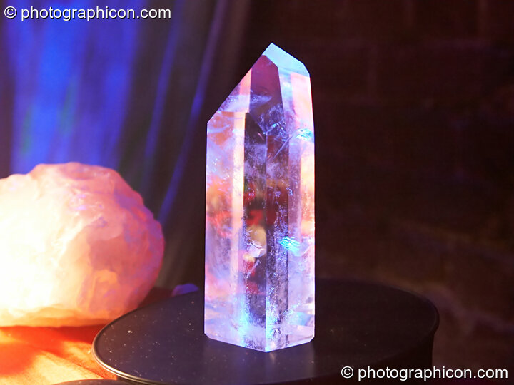 Crystals on a stall in the Healing Space at The Synergy Project. London, Great Britain. © 2007 Photographicon