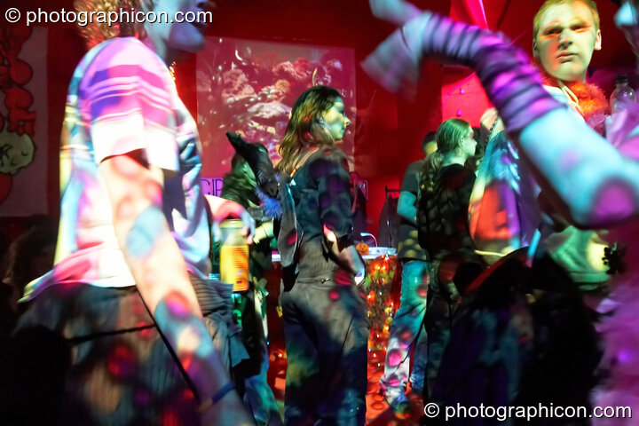 Dancers in the Skandalous! room at The Synergy Project. London, Great Britain. © 2008 Photographicon