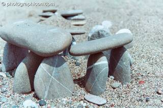 A peddle Stone Henge on the beach at Agios Pavlos. Greece. © 2002 Photographicon