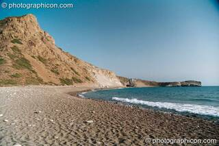 View of a beach bay at Agios Pavlos. Greece. © 2002 Photographicon