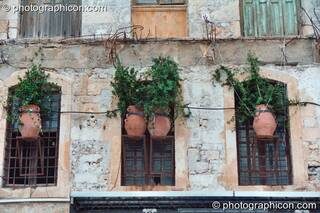 Buildings above street level in Rethymno. Greece. © 2002 Photographicon