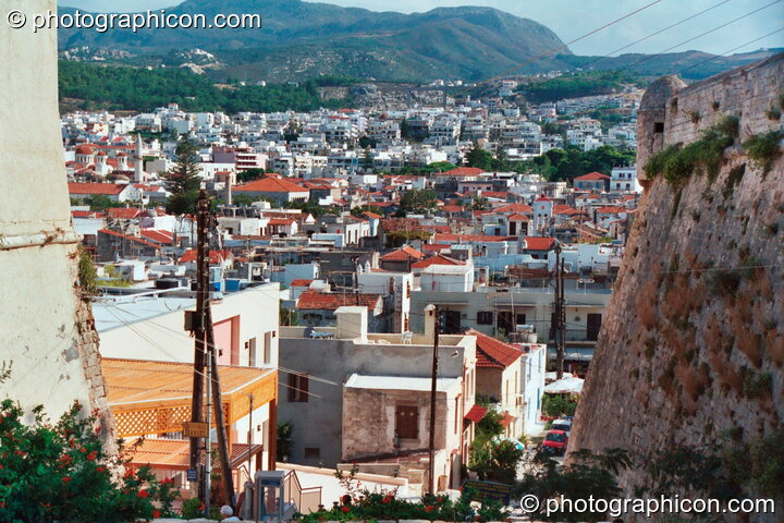 View over the town from a hill in Rethymno. Greece. © 2002 Photographicon