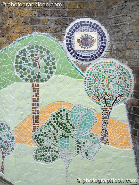 The Save The World Club's Hundertwasser mosaic. Kingston Upon Thames, Great Britain. © 2005 Photographicon