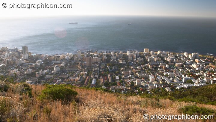 Bantry Bay as seen from the top edge of Signal Hill, Cape Town - Western Cape, South Africa. © 2005 Photographicon
