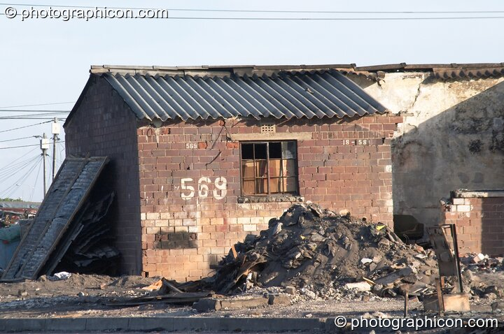 The after effects of a major fire at the Joe Slovo settlement, Cape Town - Western Cape, South Africa. © 2005 Photographicon