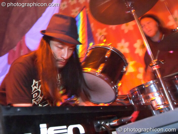 Japanese band Miso Soup play in the Sangita Sounds space at The Synergy Project. London, Great Britain. © 2005 Photographicon