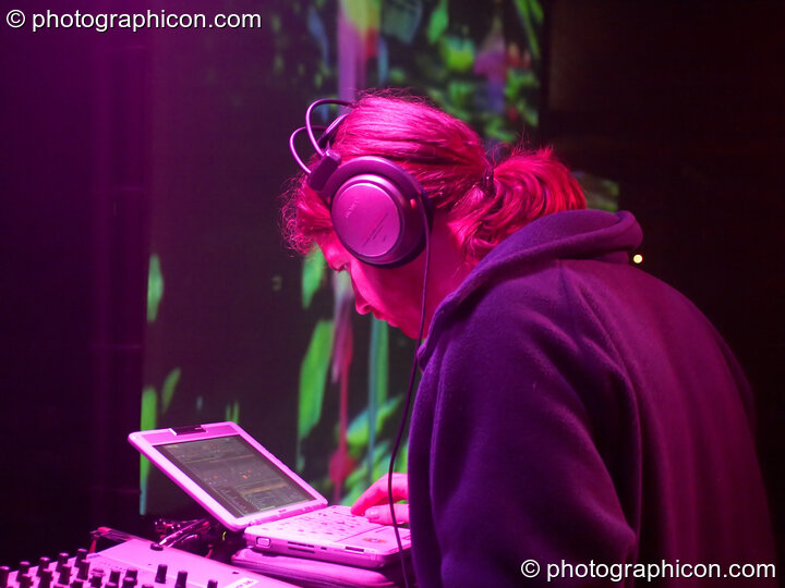DJ AFX (aka Aphex Twin) on the Main Stage at Glade Festival 2005. Aldermaston, Great Britain. © 2005 Photographicon