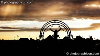 The sunsets over the festival site at Sunrise Celebration 2006. Yeovil, Great Britain. © 2006 Photographicon
